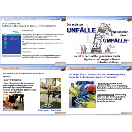 PowerPoint-Präsentation Hubarbeitsbühnen, betriebinbestform ...
